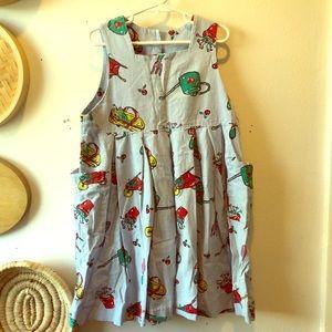 Hartstrings garden themed button back dress